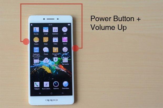 Cara Screenshot Panjang HP Oppo a37 dan f1s
