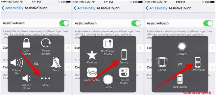 Cara screenshot di hp iPhone menggunakan AssistiveTouch
