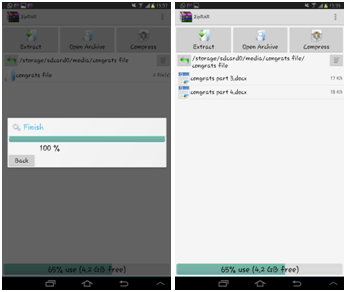 Ekstract File ZIP dan RAR di Android