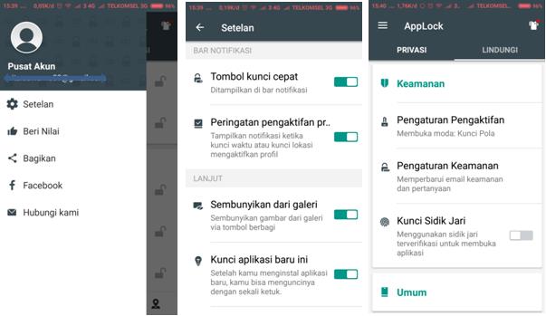 mengunci aplikasi dan gallery di hp Android