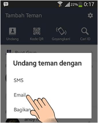 Membuat ID invite LINE dengan link URL