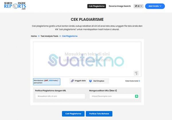Search Engine Reports - Website Cek Plagiarisme Online