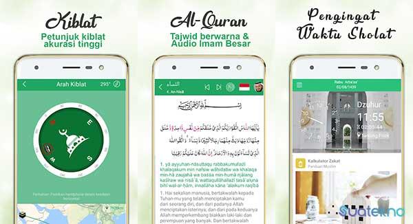 Muslim Guide: Prayer Time, Azan, Quran & Qibla - Aplikasi Pencari Arah Kiblat Akurat di Android dan iOS