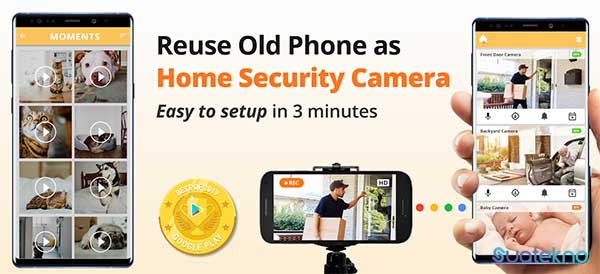 Alfred Home Security Camera - Aplikasi Mengubah Kamera HP Android/iOS Menjadi Webcam PC/laptop