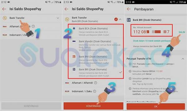 Cara Top Up ShopeePay Lewat DANA, OVO, GoPay, Jenius, LinkAja